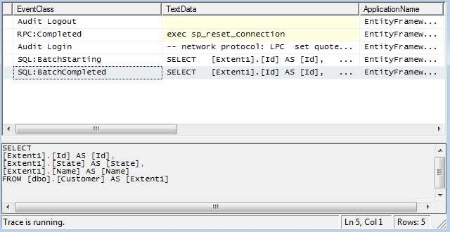 "One ""SQL:BatchCompleted"" means only a single query ran."