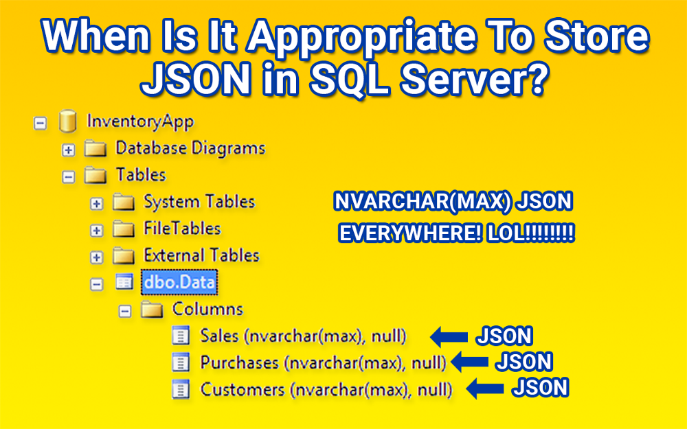 Who needs a relational database when everything can be stored in a JSON string?