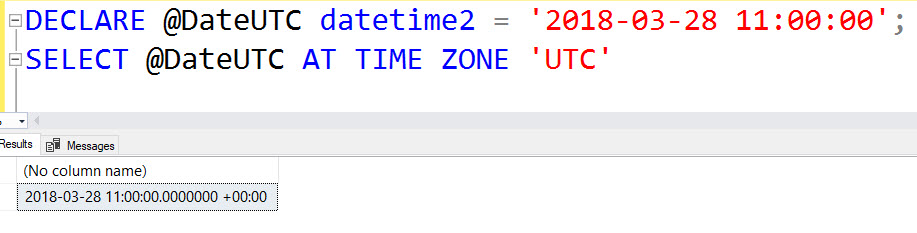 Datetime now utc sql